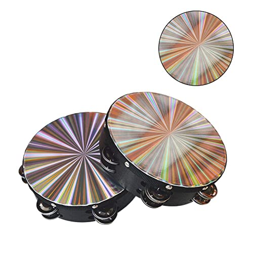 """5 Pack 8/"""" 3D Tambourine Music Double Row Jingle Percussion Instrument Church"""