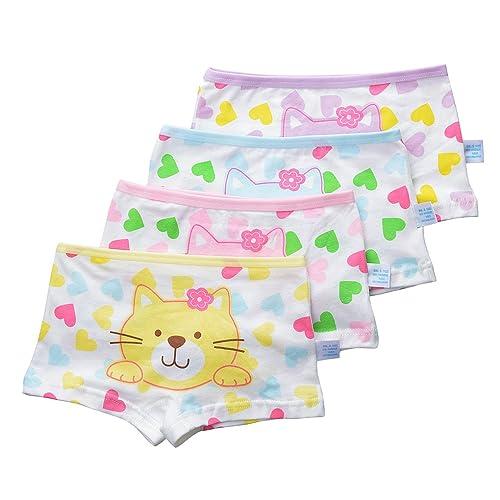 Girls Boyshort Toddler Briefs Cotton Underwear 5pk Panties