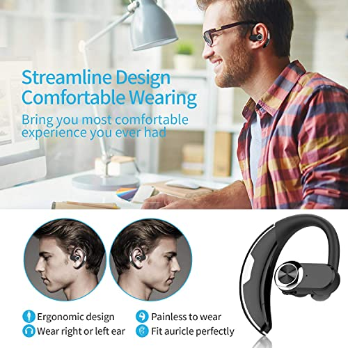 Kingworld Bluetooth Headset With 18 Hr Playing Time V4 1 Car Driving Bluetooth Earpiece Wireless Hands Free Headphones With Mic Cell Phone Noise Cancelling In Ear Compatible With Iphone Samsung Formtech Inc Com