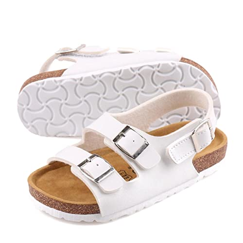 469142c7c376 Otamise Boys Athletic Cork Buckle Strap Open Toe Casual Beach Gladiator  Sandals
