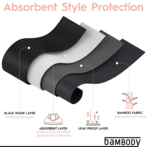 Bambody Absorbent//Overnight High Waist Panty Period Panties//Maternity /& Postpartum Underwear