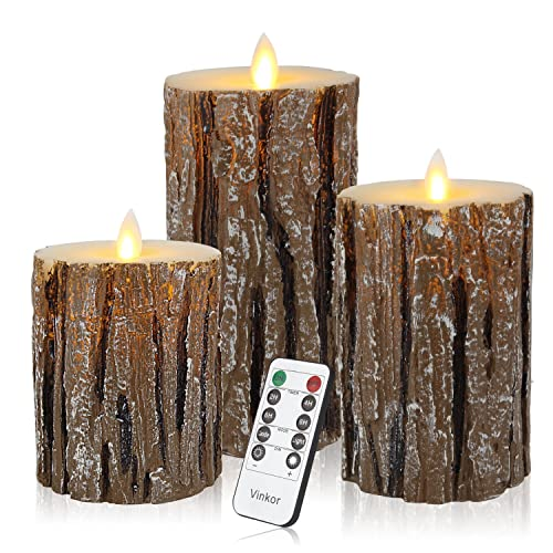 LED Candle Flickering Flame Wax Pillar with Remote Control Family Indoor Décor