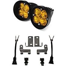 Baja Designs 557813  Squadron Sport Pair ATV LED Light Driving Combo Amber