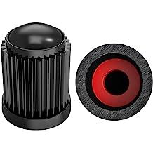 Sunmns 12 Pack Aluminium Tire Stem Valve Caps Air Cover for Car Motorcycle Bike Red