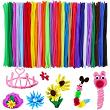 6mm12inches Pipe Cleaners Chenille Stems Pack of 400 Pcs in 20 Assorted Colors for DIY Arts and Craft Project Decoration